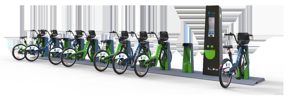 estación de aparcamiento de bicis